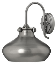 Hinkley 3178AN - One Light Antique Nickel Wall Light