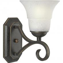 Progress P2918-84 - One Light Espresso Etched Watermark Glass Bathroom Sconce
