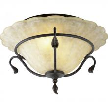 Progress P3415-84 - Two Light Brown Bowl Semi-Flush Mount