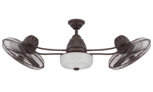 "Craftmade BW248AG6 - Bellows II 48"" Dual Ceiling Fan with Light in Aged Bronze Textured"