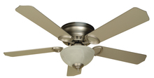 "Craftmade K10777 - Pro Universal Hugger 52"" Ceiling Fan Kit with Light Kit in Brushed Satin Nickel"