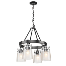 Golden 1405-4 BLK-CAG - 4 Light Chandelier