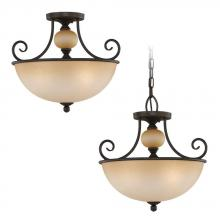 Sea Gull 51105-72 - Three Light Bronze Bowl Semi-Flush Mount