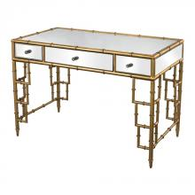 Sterling Industries 114-59 - Mirror Top Desk With Bamboo Frame In Gold Leaf