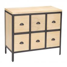 Sterling Industries 150-021 - Chest 6 Drawers With Iron Frames