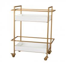 Sterling Industries 351-10182 - Gold and White Bar Cart