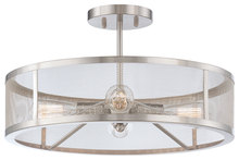 Minka-Lavery 4134-84 - 4 Light Semi Flush Mount
