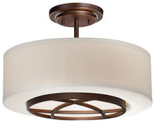 Minka-Lavery 4951-267b - 3 Light Semi Flush Mount
