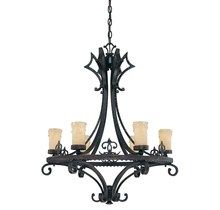 Savoy House 1-340-6-62 - Six Light Como Black W/ Gold Finish Candle Chandelier