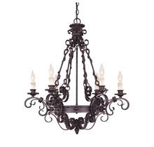 Savoy House 1-4314-6-17 - Forged Black Up Chandelier