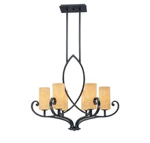 Savoy House 1-491-6-05 - Six Light Oiled Copper Finish Candle Chandelier