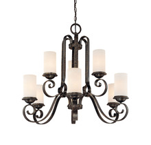 Savoy House 1-6651-9-188 - Nine Light Tortuga Finish Candle Chandelier
