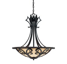 Savoy House 7-352-4-62 - Four Light Como Black W/ Gold Finish Up Pendant