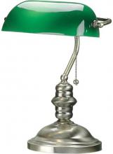 Lite Source Inc. LS-224AB - #Banker'S Lamp, Antique Brass, Green Glass Shd, E27 Cfl 13W
