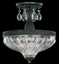 Schonbek 5644-83S - Milano 2 Light 110V Close to Ceiling in Florentine Bronze with Clear Crystals From Swarovski