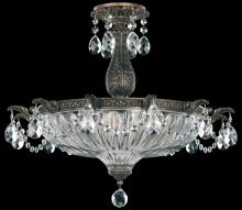 Schonbek 5650-26SH - Milano 4 Light 110V Close to Ceiling in French Gold with Silver Shade Crystals From Swarovski