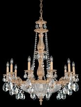 Schonbek 5693-83A - Milano 14 Light 110V Chandelier in Florentine Bronze with Clear Spectra Crystal