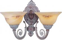 Maxim 2597JAVC - Two Light Vintage Copper Java Swirl Glass Wall Light
