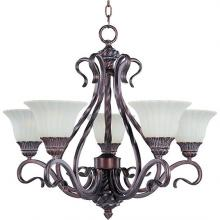 Maxim 2774SVGB - Via Roma 5-Light Chandelier
