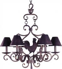 Maxim 7765KB - Six Light Kentucky Bronze Up Chandelier