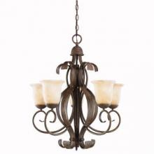 Kichler 2108OI - Five Light Old Iron Up Chandelier