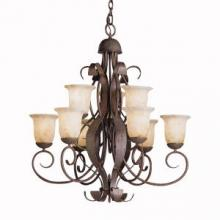 Kichler 2109OI - Nine Light Old Iron Up Chandelier