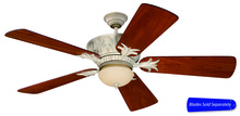 "Craftmade PV52AWD - Pavilion 52"" Ceiling Fan in Antique White Distressed (Blades Sold Separately)"