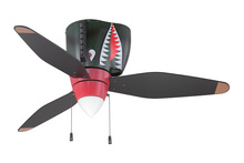 "Craftmade WB348TS3 - WarPlanes 48"" Ceiling Fan with Blades and Light in WarPlanes Tiger Shark"