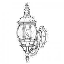 Designers Fountain 2402-BK - One Light Black Wall Lantern
