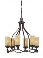 Designers Fountain 83686-TU - Castello 6 Light Chandelier