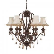 Designers Fountain 9206-MR - Six Light Moroccan Up Chandelier