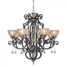 Designers Fountain 9218-SE - Eight Light Sierra Up Chandelier