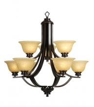 Mariana 230990 - Nine Light Oil Rubbed Bronze/glass Down Chandelier