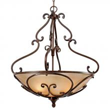 Golden 4002-BP3 RSB - Loretto Pendant Bowl in the Russet Bronze fin