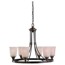 Sea Gull 31331-825 - Six Light Bronze Up Chandelier
