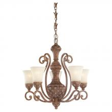 Sea Gull 31751-758 - Five-light Highlands Chandelier with Glass