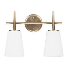 Sea Gull 4440402-848 - Two Light Wall / Bath