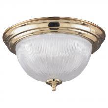 Sea Gull 7595-02 - Brass Bowl Flush Mount