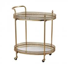 Sterling Industries 3200-032 - Banded Oval Bar Cart