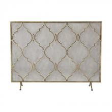 Sterling Industries 351-10247 - Agra Antique Gold 34-Inch Metal Fire Screen