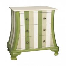 Sterling Industries 84-9943 - Green Chevron Chest