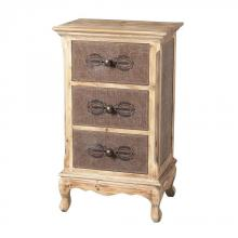 Sterling Industries 89-8009 - Linen Covered Chest Of Drawers