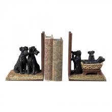 Sterling Industries 93-10063/S2 - Puppies In A Basket Bookends