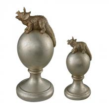 Sterling Industries 93-19363/S2 - Triceratops Finials-Set Of 2 Triceratops Finials