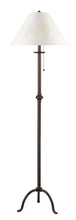 "CAL Lighting BO-903FL - 57"" Height Iron Floor Lamp In Black"