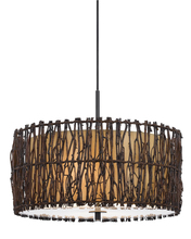 "CAL Lighting FX-3567/1P - 14.25"" Inch Tall Pendant In Twig Finish"