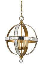"CAL Lighting FX-3571/1P - 19.25"" Inch Tall Metal Pendant In French Gold Mirror Finish"