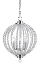 "CAL Lighting FX-3598-5 - 19.5"" Inch Tall Glass Pendant In Chrome Glass Finish"