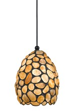 "CAL Lighting UP-1100/6-DB - 4.5"" Tall Glass Pendant With Oil Rubbed Bronze Cord"
