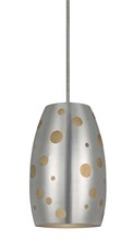 "CAL Lighting UP-1102/6-ORB - 9.5"" Tall Metal Pendant In Brushed Steel Finish"